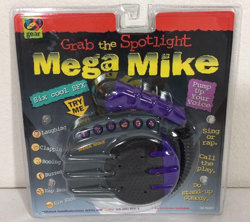 New Vintage Mega Mike Microphone 1996 Toy Yes Gear Sealed Rare New Vintage Vintage Seal