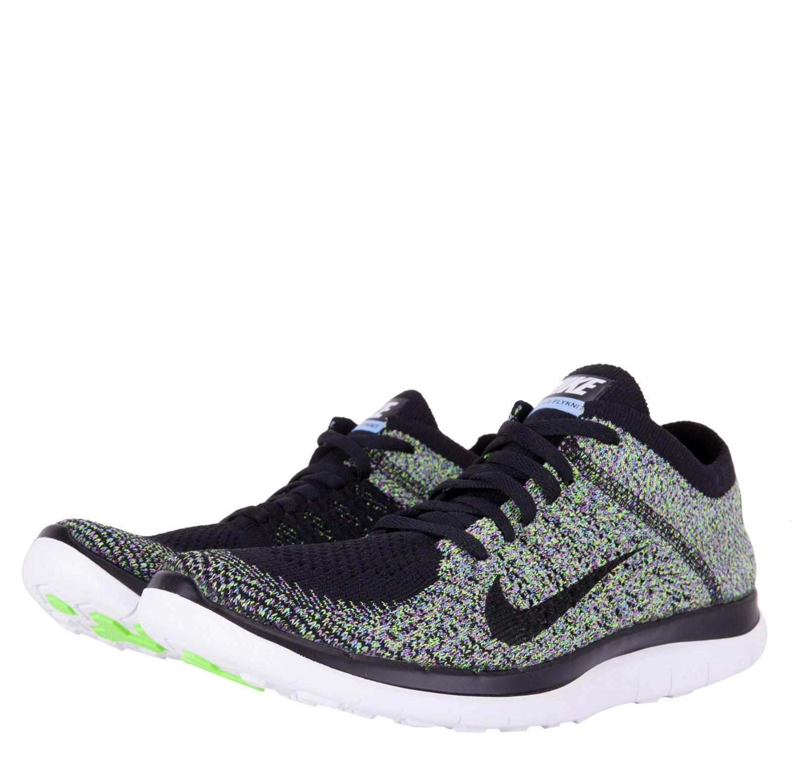4711d0e08e60 Nike Womens Free 4.0 Flyknit - Black Blue Green - (I so desperately need  new affordable runners!!!)