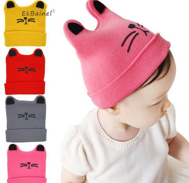 4cc278134 E Bainel Autumn Winter 0-12months Newborn Baby Hat For Girls Cotton ...