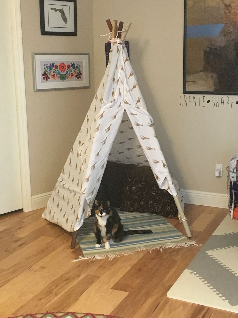separation shoes da26c a36c2 Diy teepee for the kiddo 5 6ft poles and a twin sheet ...