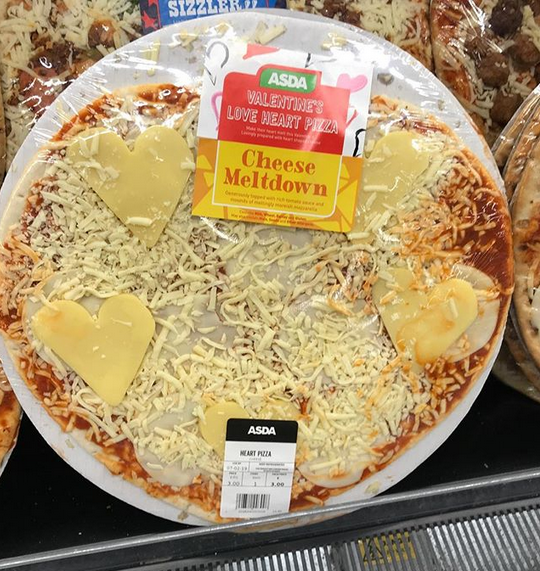 Which Asda Pizza Says I Love You Best Cheese