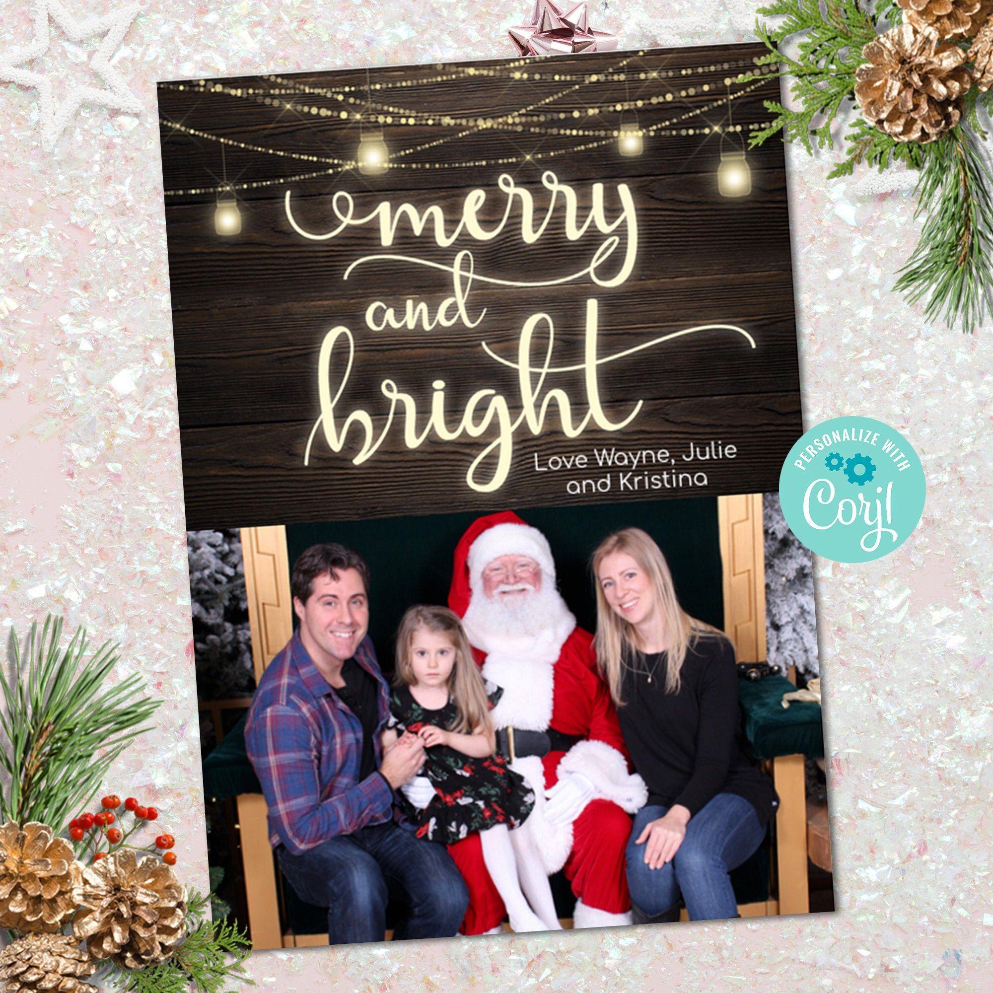 Family Photo Christmas Card Christmas Card Template Holiday Etsy Family Christmas Card Photos Christmas Card Template Family Holiday Photo Cards
