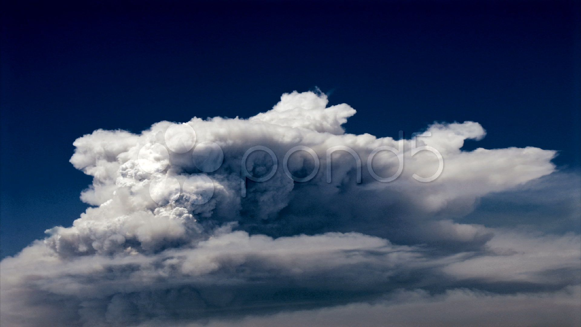 Time Lapse Of Smoke Clouds Billowing In The Sky Stock Footage