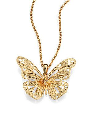 9489d13e5 Alexander McQueen Butterfly Pendant Necklace   Gorgєous Jєwєℓrყ ...