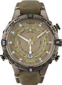 2834c093515 Amazon.com  Timex Men s T2N739 Intelligent Quartz Adventure Series Tide  Temp Compass Brown Leather Strap Watch  Timex  Watches