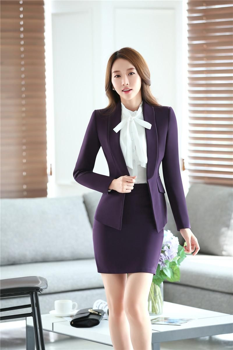 3XL Plus Size Beautiful Lady Fashion Business Suits, Women ...