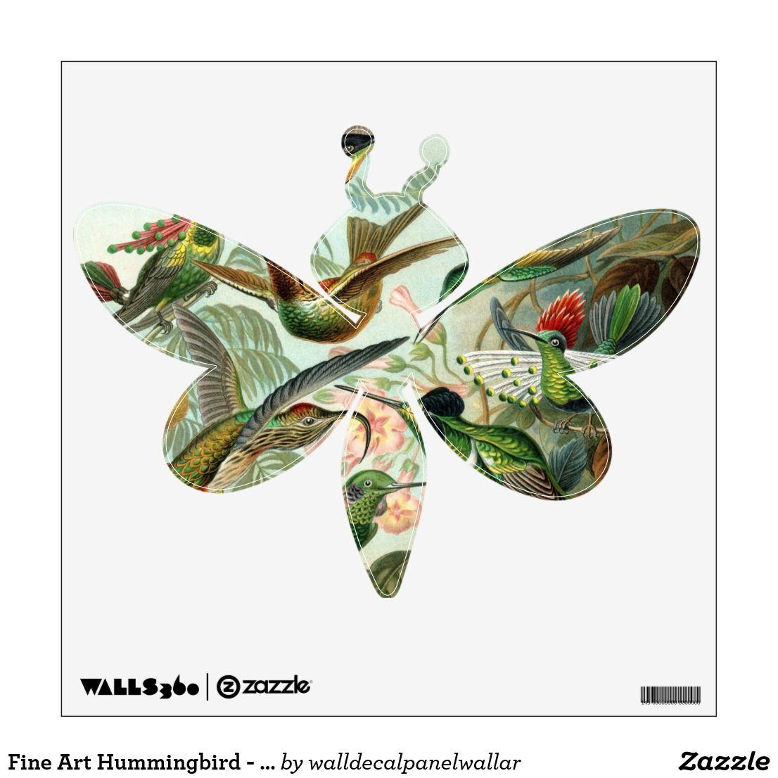 Fine Art Hummingbird Art Forms of Nature Wall Decal