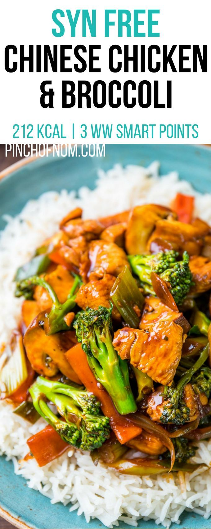 Syn Free Chinese Chicken and Broccoli   Pinch Of Nom ...
