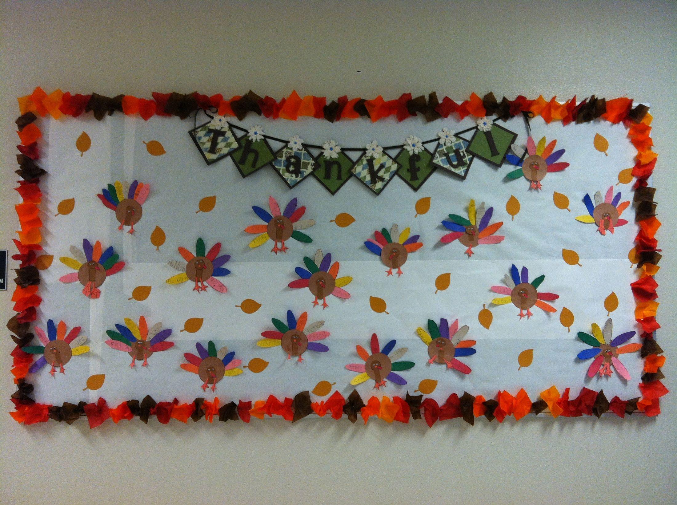 Classroom Border Ideas : Thanksgiving bulletin board border idea school