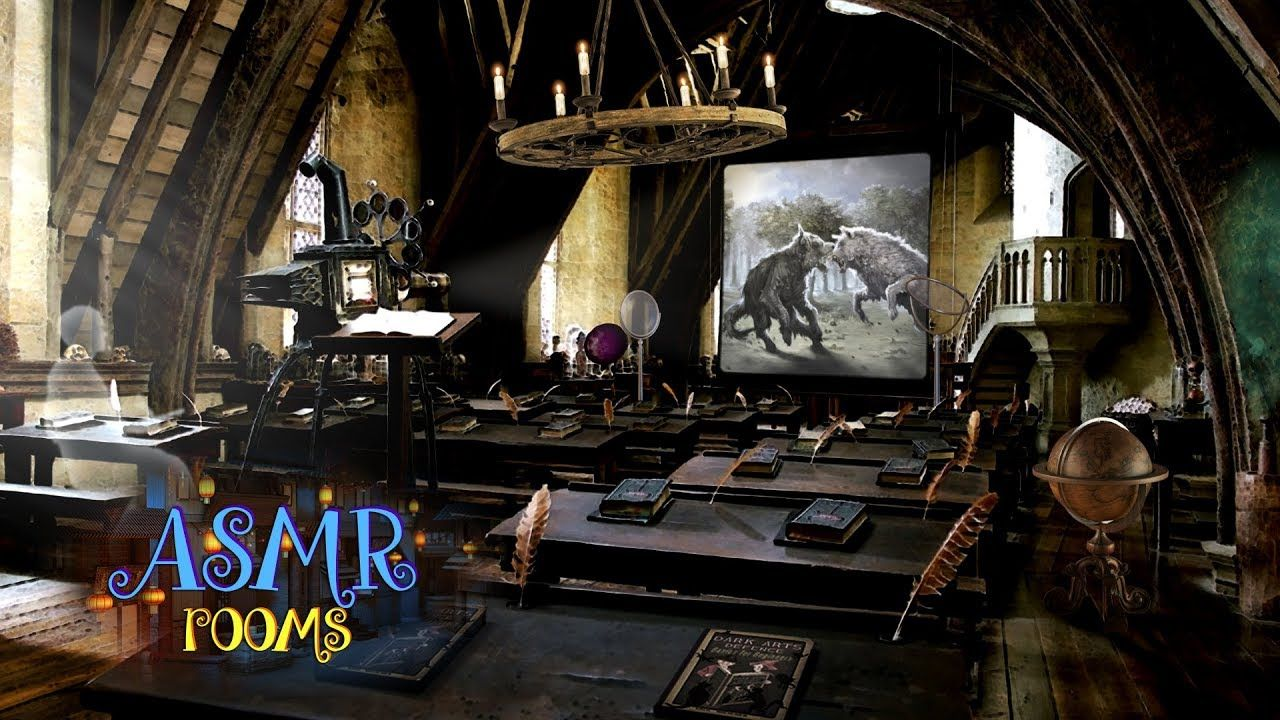 Harry Potter Asmr Defence Against The Dark Arts Classroom 1 Hour Stu Dark Creatures Hogwarts Library Dark Art
