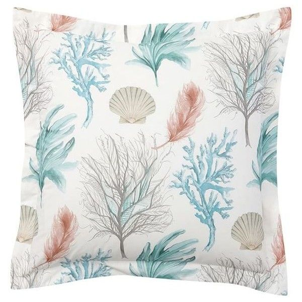 Pottery Barn Del Mar Coastal Sham 40 Liked On Polyvore