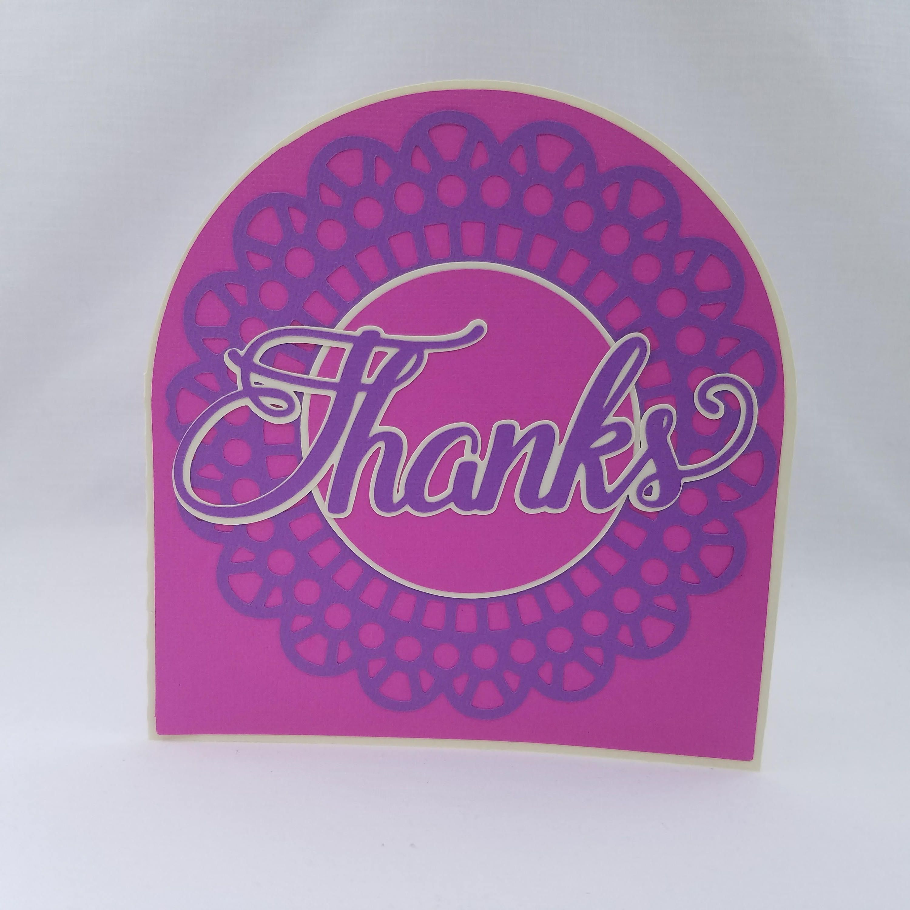 Handmade Thank You Greeting Card. Business Thank you card. Thank ...