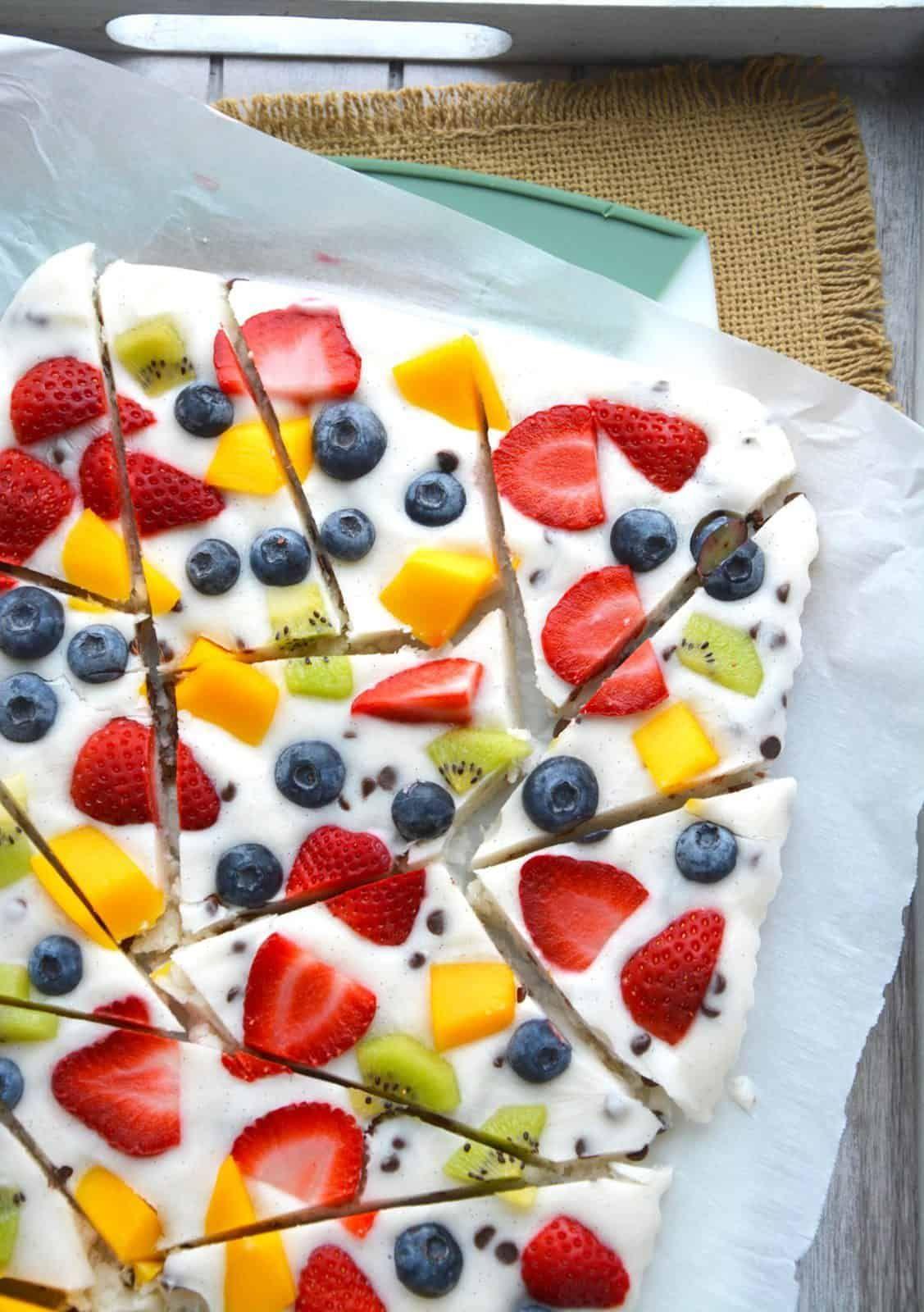 Image result for Greek yogurt fruit bark