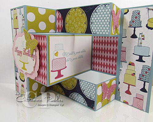 Tri Fold Shutter Card Video Tutorial  Fancy Fold Card For Anna And