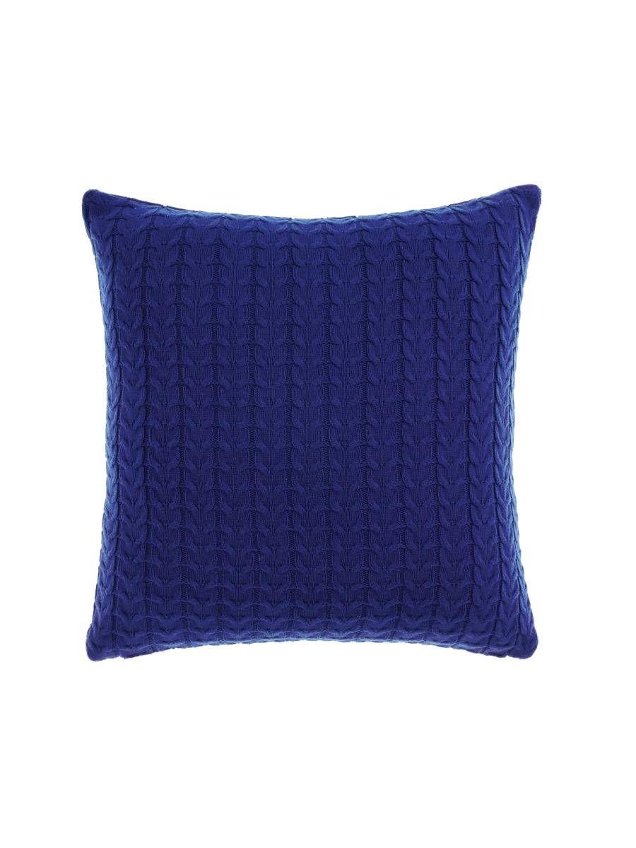 Cushion knitted 45x45cm deep ultramarine cushions online