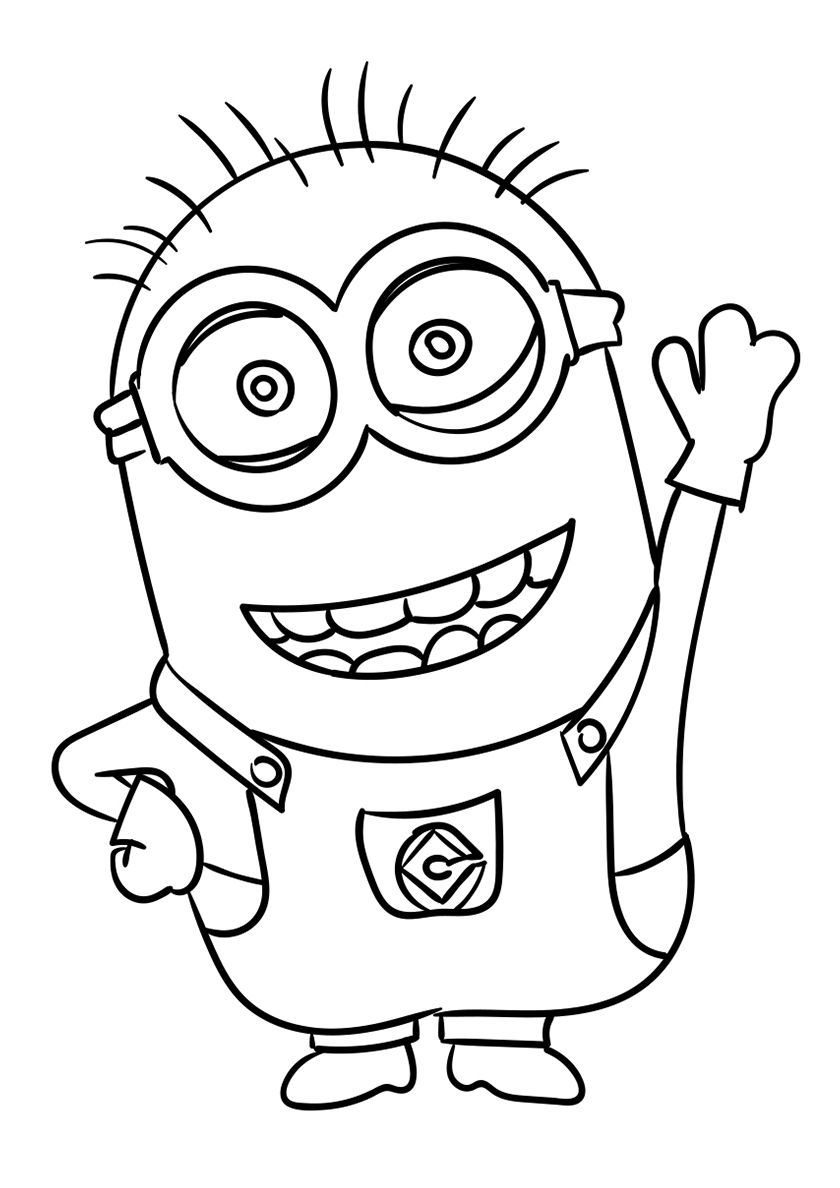 Printable The Minions Dave Coloring Page For Kids Free Online Print Out The Minions Dave Color Minion Coloring Pages Minions Coloring Pages Free Coloring Pages