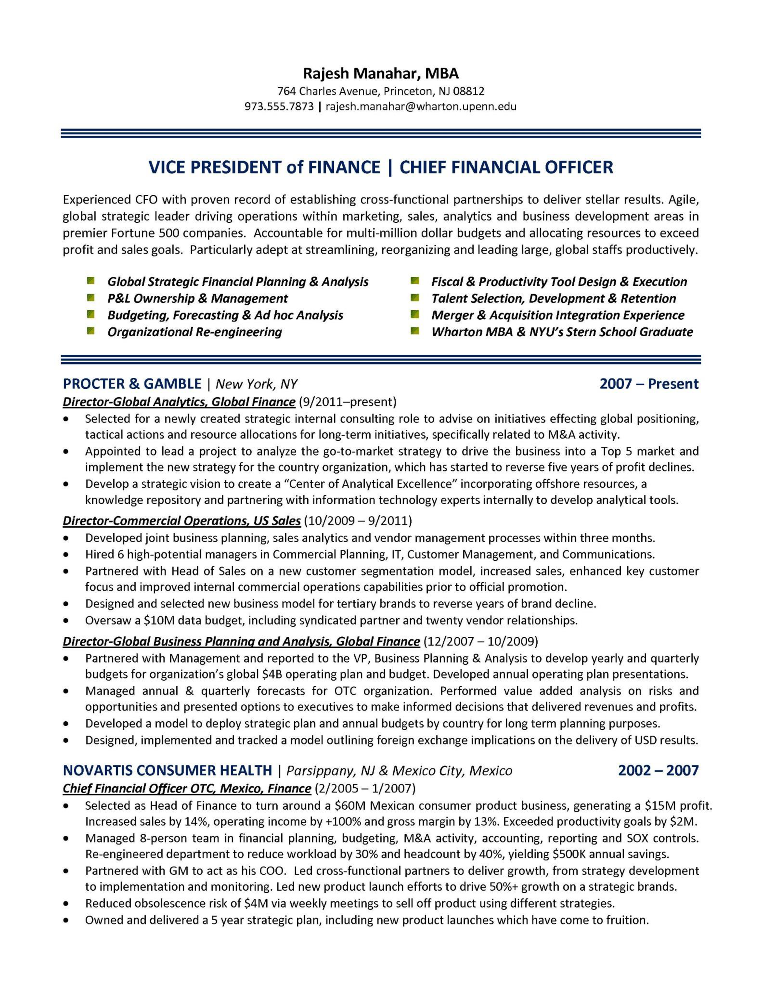 Chief Finance Officer Resume How To Draft A Chief Finance Officer Resume Download This Chief Finance Officer Resume Templa Finance Templates Download Resume