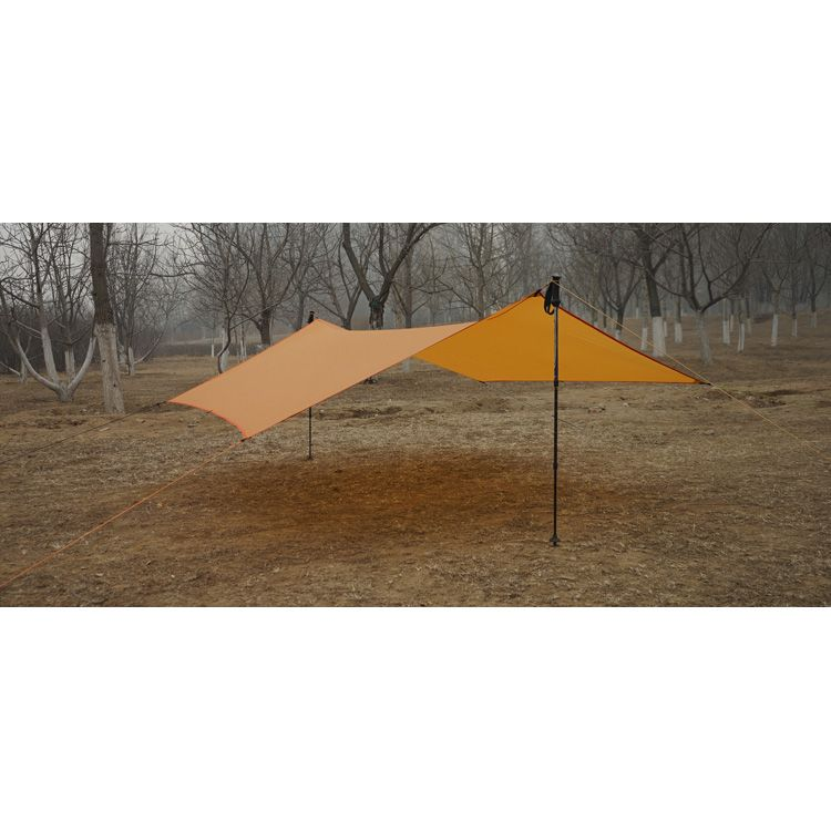 Waterproof Ultralight Awning Canopy for Hiking Fishing Picnic Camping Tarp Sun Shelter Beach Tent Camping Cushion Survival Shelter Blue