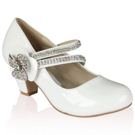Kids White Wedding Shoes