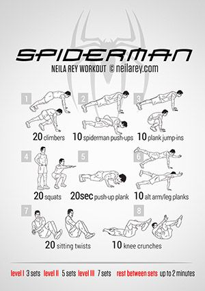 spiderman workout  superhero workout batman workout