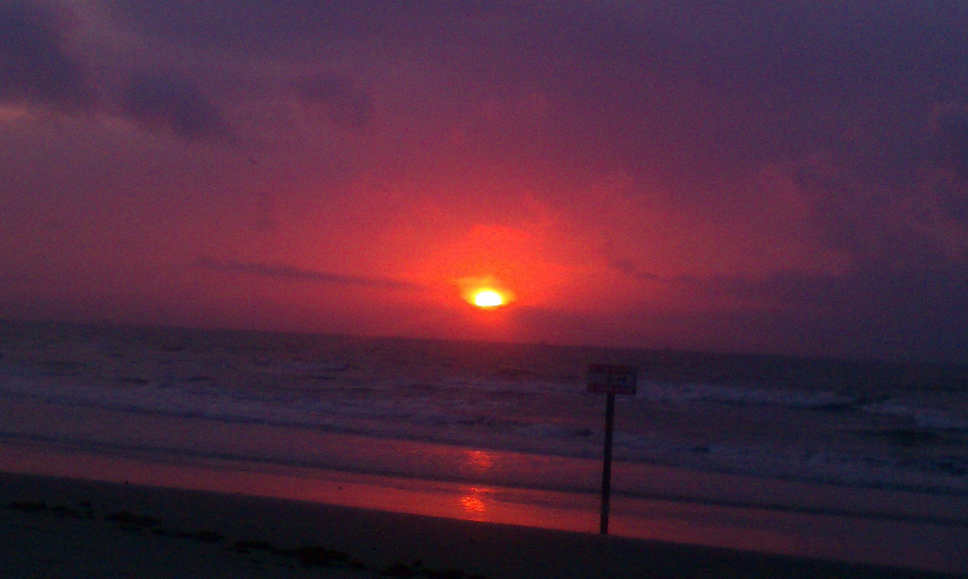 Galveston Texas at 7:27 am.
