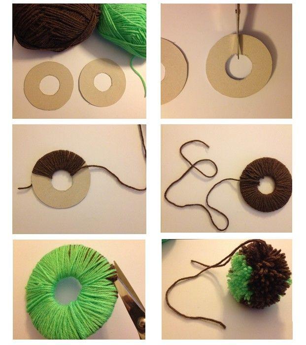 tutoriel pompon en laine projets essayer pinterest pompon en laine pompons et laine. Black Bedroom Furniture Sets. Home Design Ideas