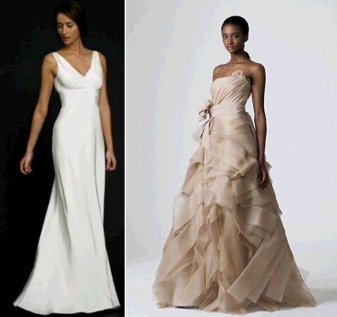 White Sheath V Neck Wedding Dress Renting Gently Used Taupe Vera Wang Wedding Dress Full Wedding Dresses Wedding Dress Trends White Bridal Dresses