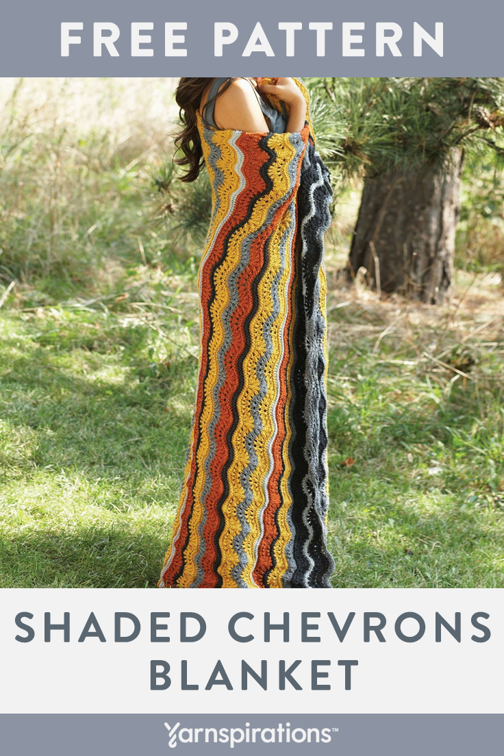 Free Knitting Pattern | Patons Canadiana Shaded Chevrons ...
