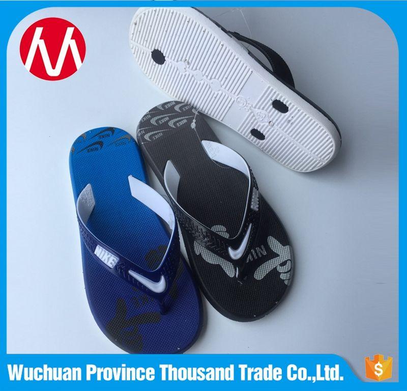 06c25fa0a 2017 Wholesale Boys African slippers Blank Kids Beach Flip Flops ...