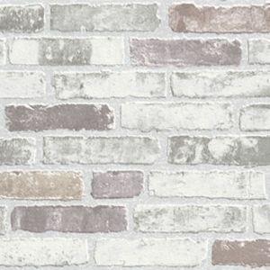 Carta da parati effetto mattoni Brick puzzle (con
