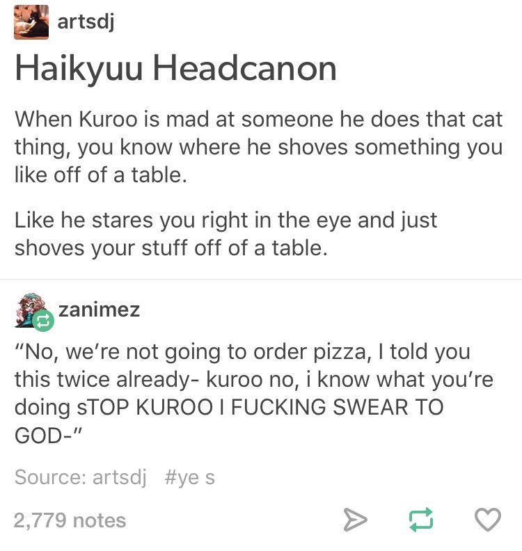 Kuroo would make a really cute kitty   Haikyuu!!   Haikyuu