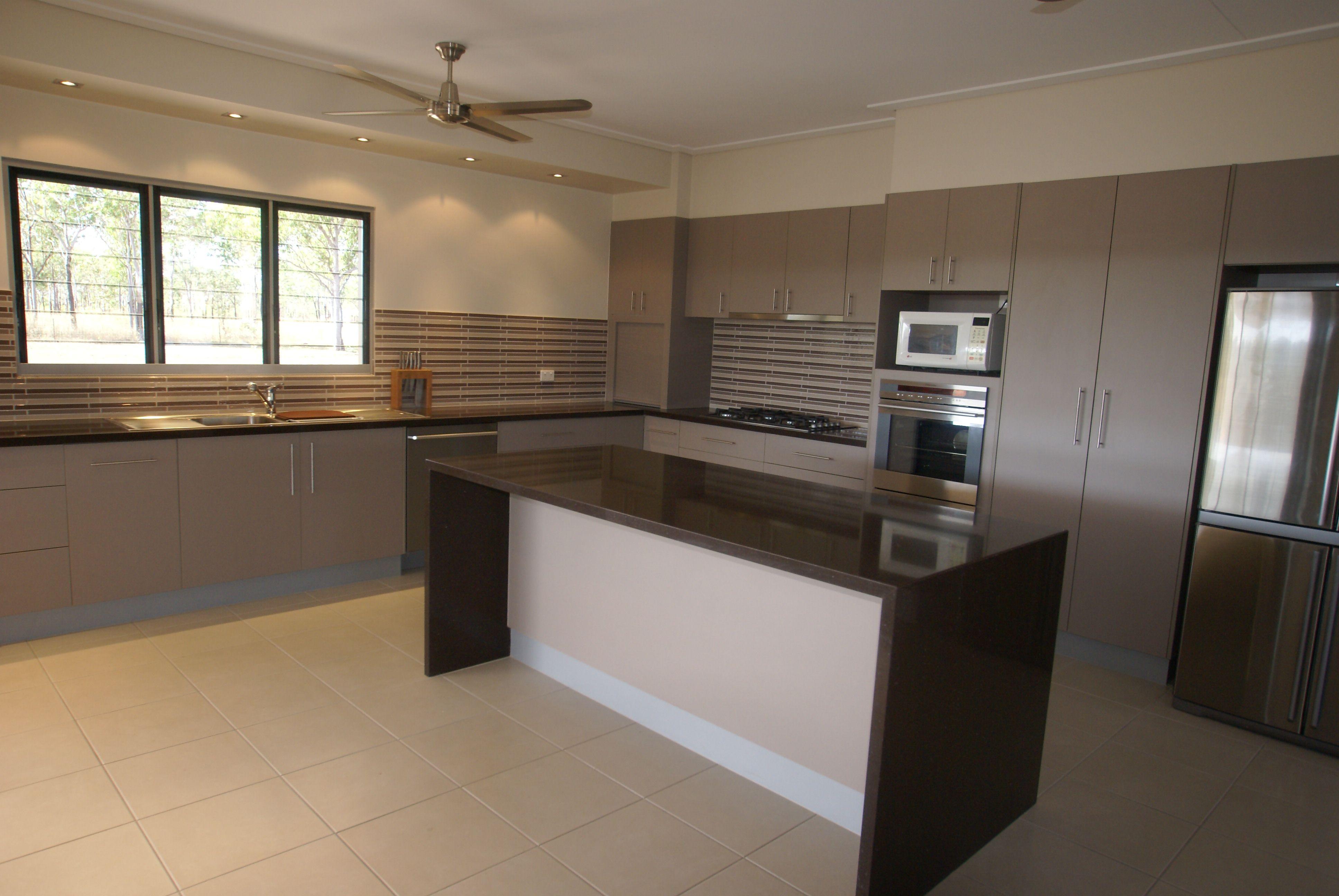 Waterfall kitchen island | Kitchens | Kitchen design ...