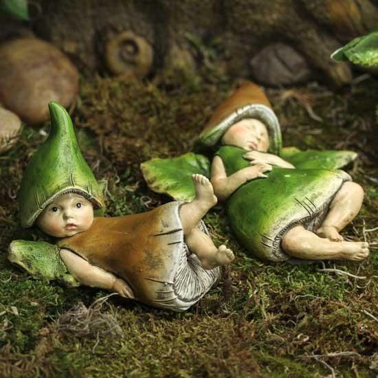 Lazing Baby Mushroom Fairies #fairygarden