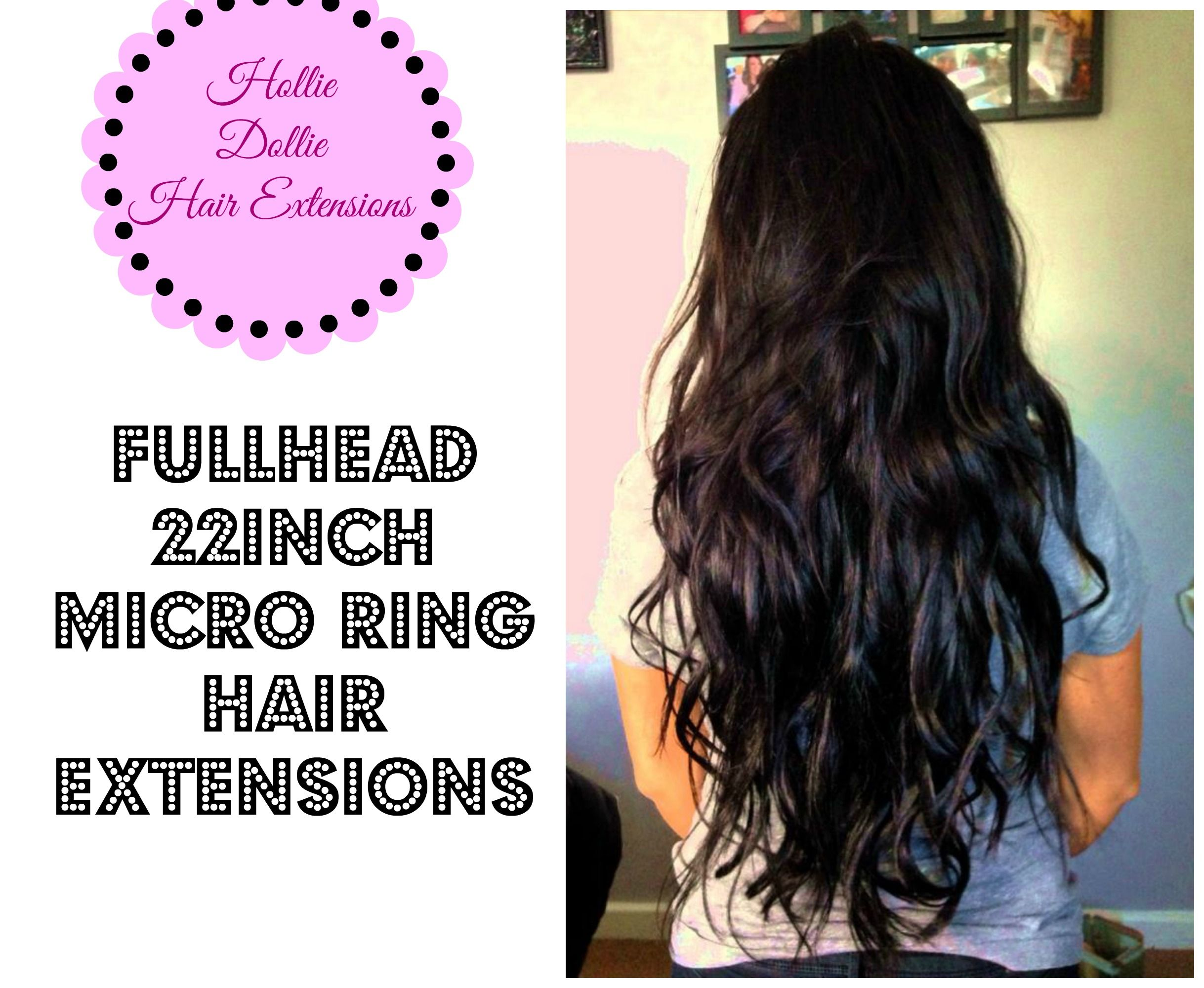 22inch Mirco Ring Hair Extensions By Hollie Dollie Hair Extend It