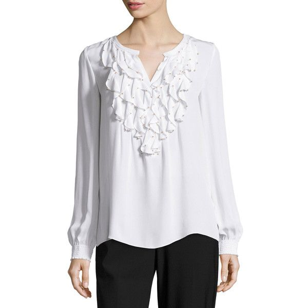 Kobi Halperin ruffled longsleeved blouse Discount Cheap Price Outlet Discount Authentic 100% Original For Sale R3WimvqwV