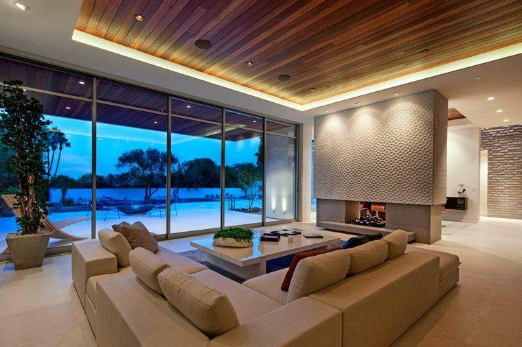 Extrêmement Faux plafond moderne dans la chambre à coucher et le salon  IO52