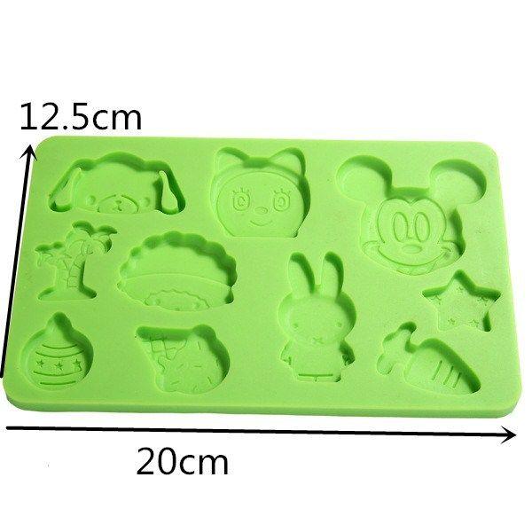 XIBAO Cartoon Animal Silicone Chocolate Mold Zombies Shape Cake Mold Cartoon Biscuit Mold Bakeware #Affiliate