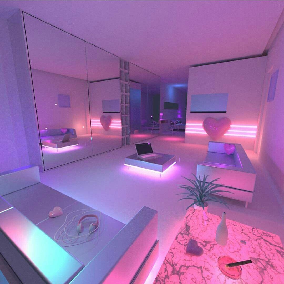 Room beautiful idea rooms pinterest room for Bedroom neon lights