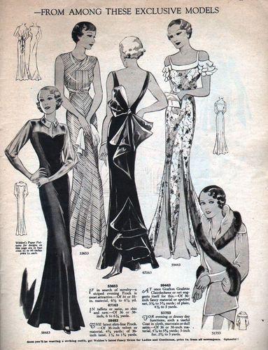 30\'S VTG WELDON\'S Sewing Pattern Catalog - DANCE & EVENING FROCKS ...