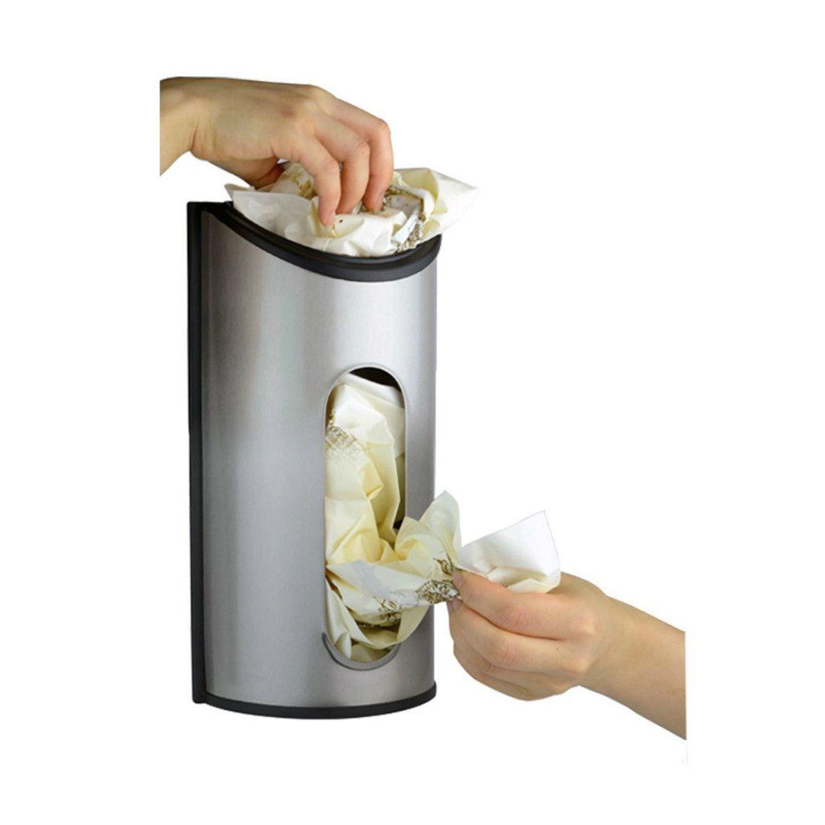 9d334fb016b Plastic Grocery Bag Holder Kitchen Organizer Wall Mount Dispenser Cabinet Plastic  grocery bag holder organizes and dispenses our plastic shopping bags for ...