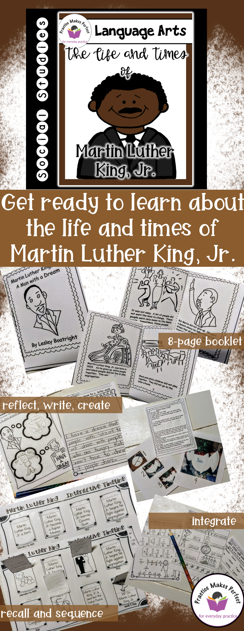 The Life and Times of Martin Luther King, Jr | Math activities, King ...