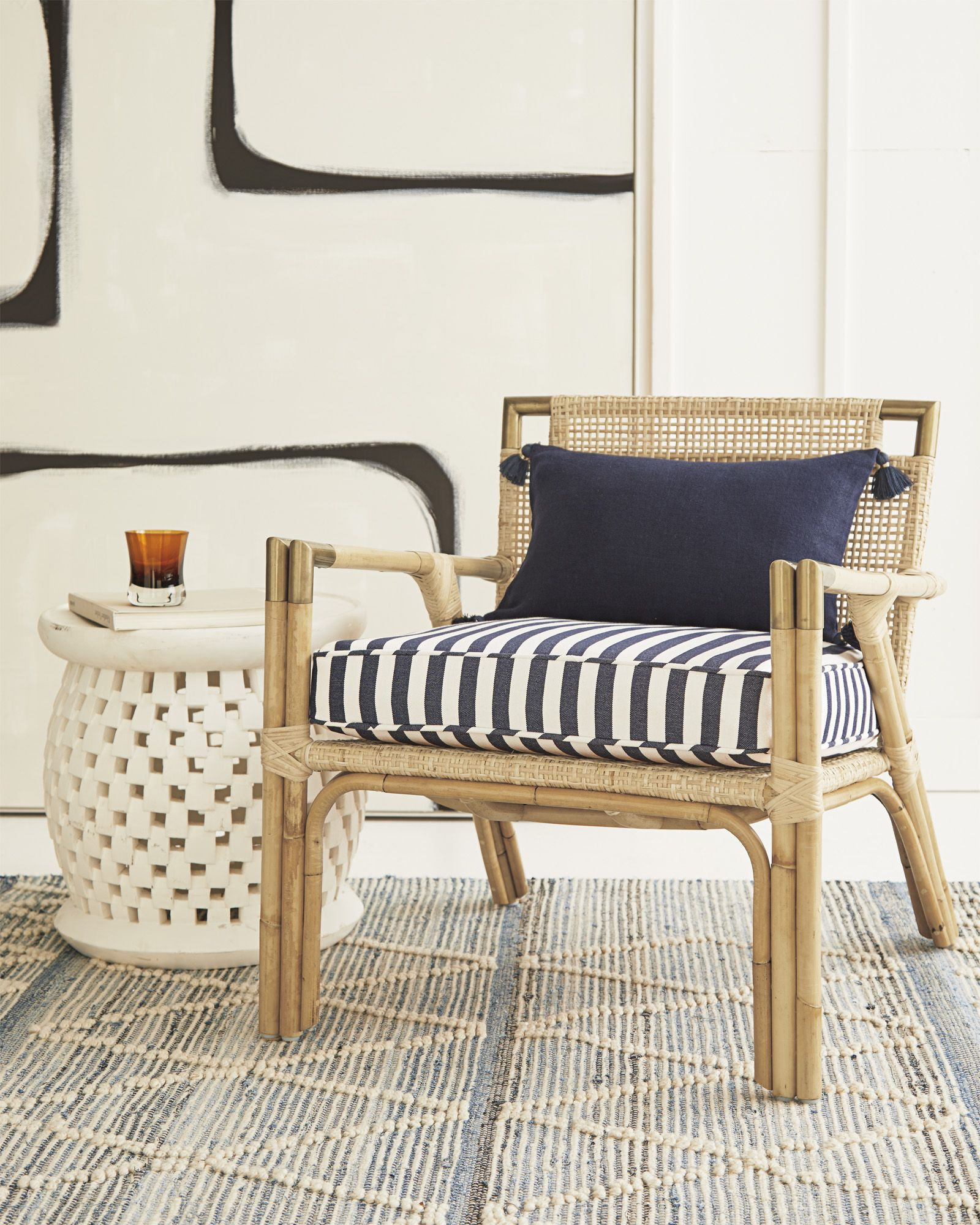 Wooden armchair with cushion - Mattituck Armchair With Cushion Via Serena Lily