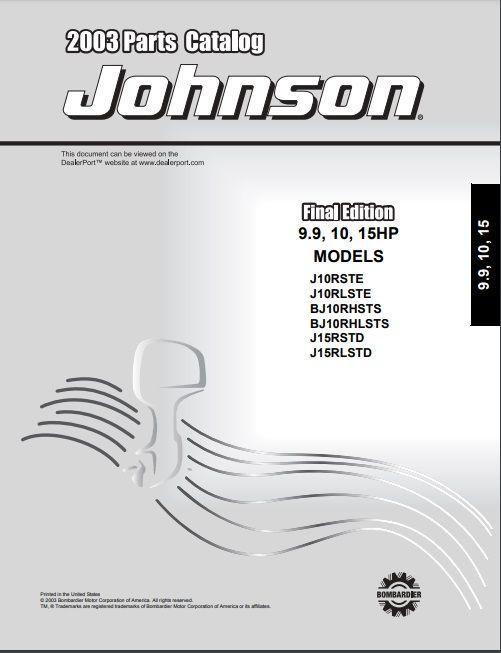 Array - 2003 johnson evinrude 9 91015hp parts catalog manual      rh   pinterest com