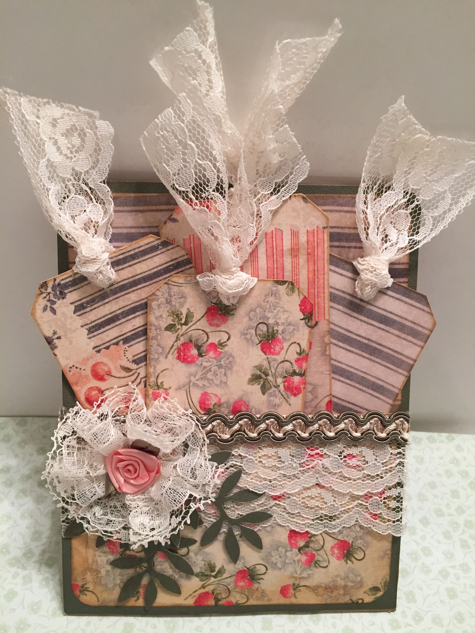 PAPER BAG full of GIFT TAGS Have you ever thought about giving Gift Tags as the gift? Why not? These are all packaged up in a brown paper sack covered in designer papers to give a retro or vintage loo                                                                                                                                                                                 More