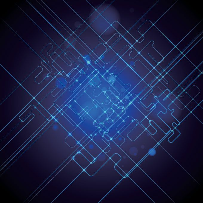 Science Technology: Abstract Blue Science & Technology Background (Free