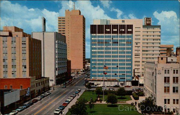 Downtown Midland Skyline Midland Midland Texas Downtown