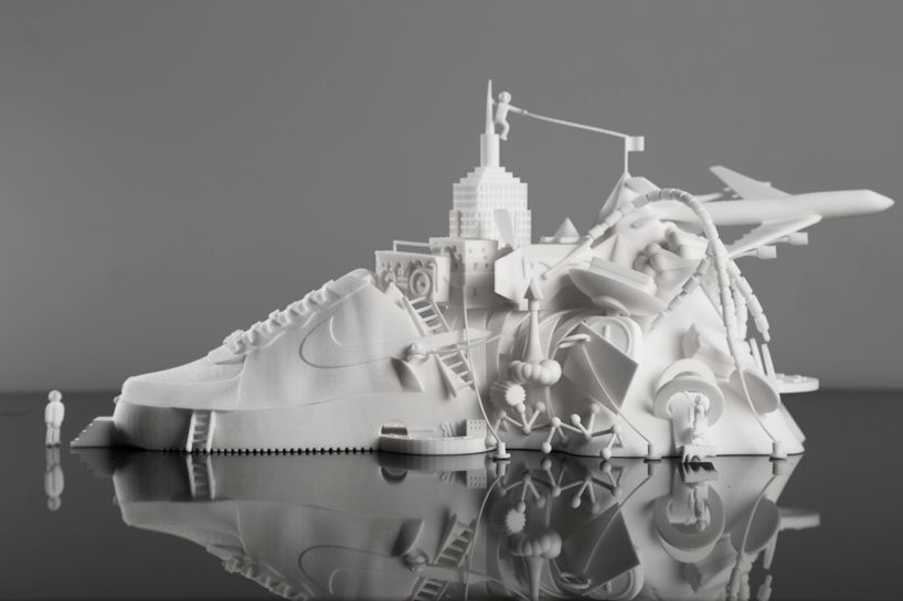 3D printed NIKE air force 1 sculpture by modla + damilola odusote