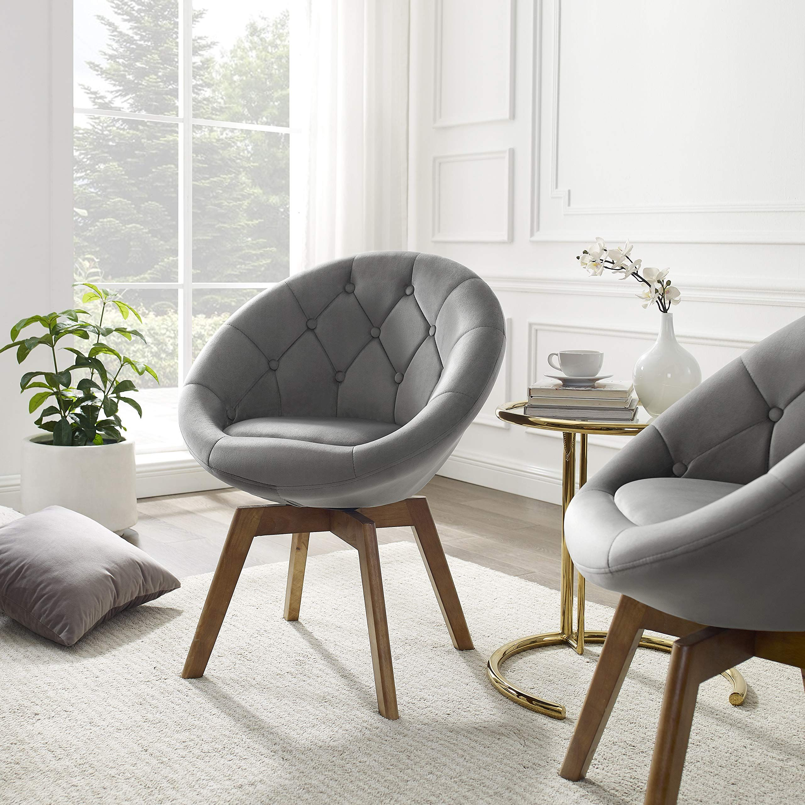 A New Upgradeda I Sround Egg Shaped Swivel Accent Chair With Arms 363a Swiveling Design Realizes Easy D In 2020 Accent Chairs Swivel Accent Chair Round Swivel Chair #round #swivel #chair #living #room