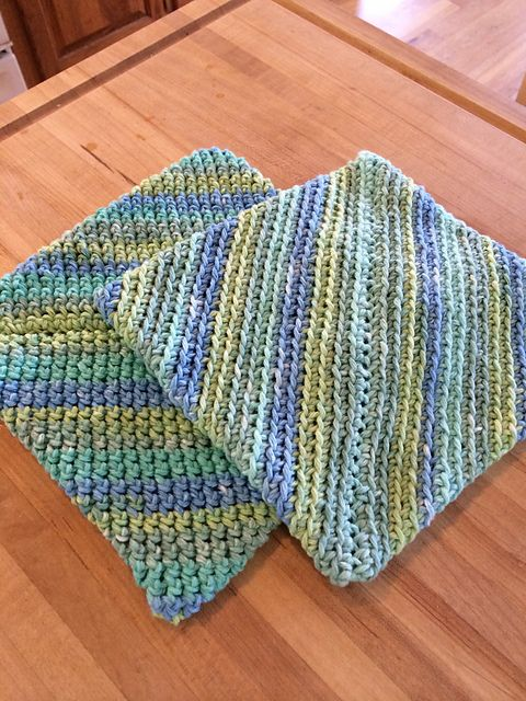 Ravelry: Project Gallery for Double-thick Diagonally ...