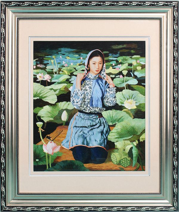 Su Jie Family Handmade Embroidery The Female Character Non-cross Stitch Decorative Painting 92017